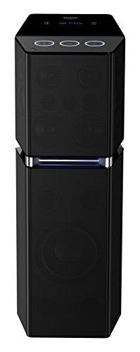Panasonic SC-UA7E-K Stylisches Urban Audio System (Bluetooth, FM Tuner, 2x USB, AUX, optischer Eingang, 4 GB Speicher, Karaoke-Funktion, 1700 Watt RMS) schwarz