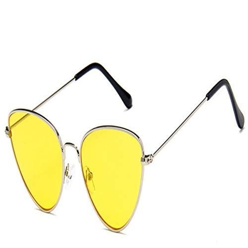 FGRYGF-eyewear Sport-Sonnenbrillen, Vintage Sonnenbrillen, NEW Cat Eye Sunglasses Women Brand Trendy Tinted Color Vintage Shaped Sun Glasses Famle Drop Shaped Ocean UV400 C3