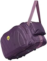 Hard Craft Lightweight Waterproof Wine Duffel with Extra Compartments and Roller Wheels