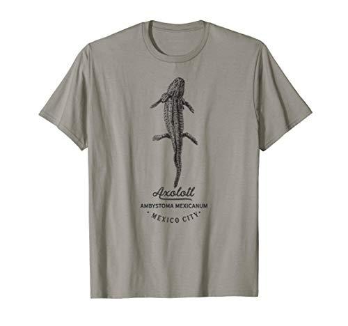 Axolotl Vintage Tierdruck Fauna Prints Geburtstag Geschenk T-Shirt