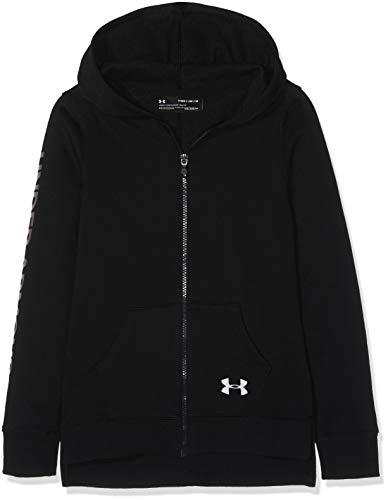 Under Armour Mädchen Rival Full Zip Oberteil, Schwarz, YMD Long Sleeve Full Zip Fleece