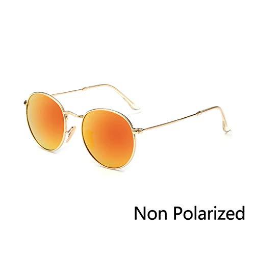 Sonnenbrillen New Vintage Metal Round Sunglasses Men Women Steampunk Retro Sun Glasses Fashion Shades Male Female Eyewear UV400 N08 Gold Red