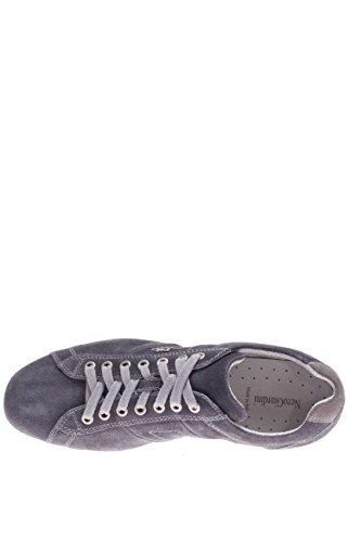 Nero Giardini Homme-Sneaker P604001U 214 Chaussures en Daim Bleu - denim