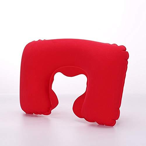 U Shape Automatic Inflatable Travel Pillow Neck Folding Portable Pillows Cushion Headrest B - Deer Music Queen Large Colors Modern Love Ocean Tone Gray Throws Decorati ()