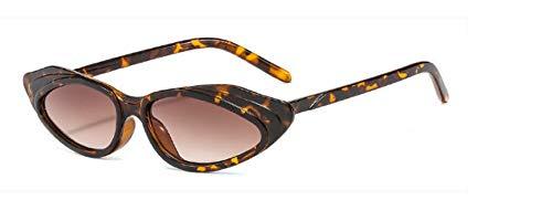 ZJMIYJ Sonnenbrillen Crystal Cat Eye Sonnenbrille Frauen Streifen Sonnenbrille Männer Frauen Brillen Leopard mit kleinem Rahmen