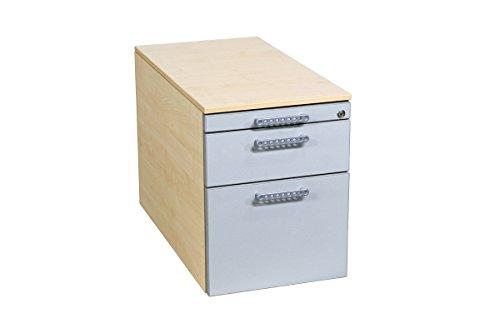 Büro Rollcontainer Bürocontainer Unterstellschrank gebraucht von Oka Büromöbel mit Hängeregistratur in ahorn/lichtgrau