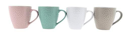 MC Trend 4er Set Edle Tassen Becher Pott Kaffee Tee Kakao Brunch Frühstück Geschirr Büro Küche Geschenk-Idee