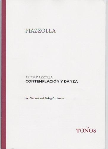 TONOS PIAZZOLLA A. - CONTEMPLACION Y DANZA - CONDUCTEUR Jazz&Blues Noten Klarinette