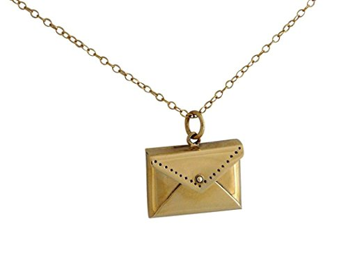 Gemshine - Damen - Halskette - Anhänger - Vergoldet - Brief - Umschlag - 45 cm