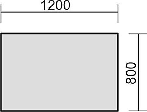 elektrisch höhenverstellbarer Schreibtisch 1200x800x680-1160, Lichtgrau - 2