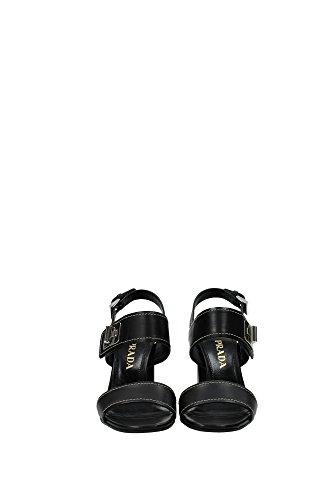 1X493FNEROVITLUX Prada Sandale Femme Cuir Noir Noir