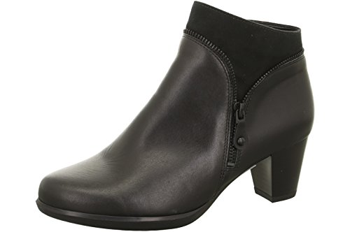 Jenny Damen Stiefelette 22-68652-75 schwarz, Größe 36 - 41, Leder, Weite G, Absatz ca. 4,5 cm Schwarz