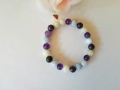 Bracelet bouffées de chaleur, ménopause, pierres naturelles, bien être féminin, pierre de lune bracelet