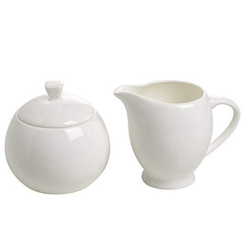 Maxwell & Williams BC1951 Milch/Zucker-Set, Porzellan, weiß, 11.4 x 35.6 x 55.2 cm, 2 Einheiten