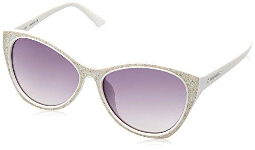 Swarovski Damen SK0108F-5921B Sonnenbrille, Weiß (White/Gradient Smoke), 59