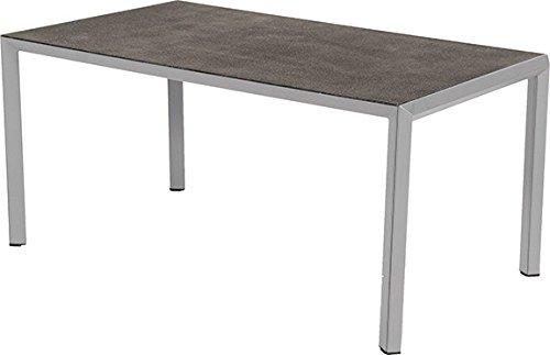 Hartman Aluminium Tisch Trinidad Lofttisch mit Spraystoneplatte Gartentisch