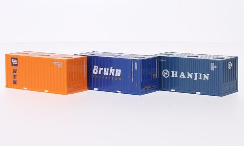 container-bruhn-hanjin-nyk-modellauto-fertigmodell-herpa-187