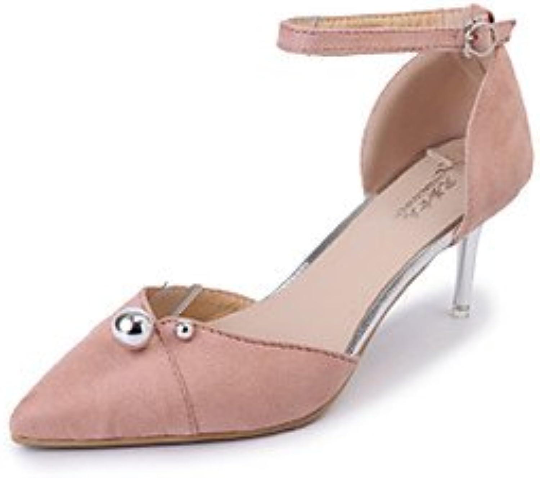 FYios Sandalias de mujer zapatos Club PU vestidos primavera verano &Amp; Noche Club Cordón hebilla zapatos Stiletto...