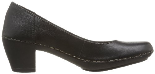 Clarks Emerson Jazz, Scarpe stringate donna nero (Schwarz (Black Leather))