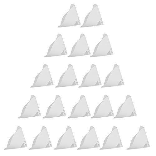 D DOLITY 20 Stücke 3D Drucker Trichter 3D Drucker Zubehörteile Filter Papiertrichter Filternutsche