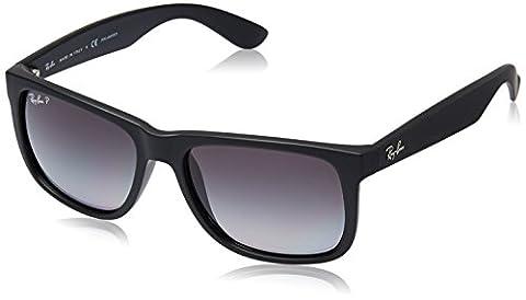 Ray Ban Unisex Sonnenbrille RB4165 Polarisiert, Gr. Large (Herstellergröße: 55), Schwarz (Gestell: Schwarz, Gläser: Polarized Grau Verlauf 622/T3)
