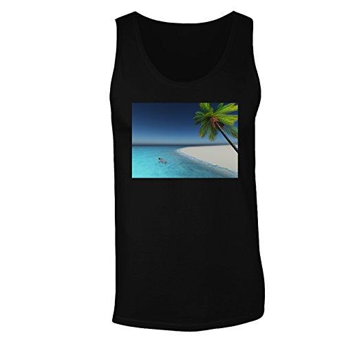 Vacanza meravigliosa spiaggia viaggiare il mondo canotta da uomo b348mt Black