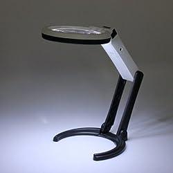 High Quality 10LED iluminación para viajes linterna de mano con lupa 2.5x 8x