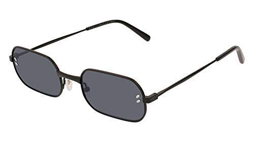 Stella mccartney sc0108s 001 occhiali da sole, nero (001-black/grey), 52 uomo
