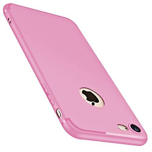 casehq iPhone 6Plus (14cm) Fall, iPhone 6S Plus (14cm) Fall, Slim Fit [Ultradünn] & [Soft Touch] Premium Matt TPU Rubber Protect Cover für iPhone 6/6S Plus 5,5inch-red, pink-1pack -