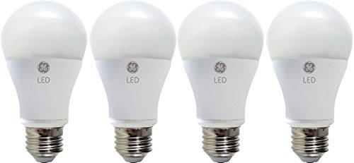 GE LIGHTING 92398LED 10.5-watt (Ersatz), Gluehbirne 850-lumen A19Leuchtmittel, Weiß (Soft White), Soft White 4-Pack (2700K) 10.5  120 volts (120v Ge Light Bulbs)