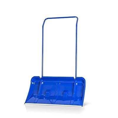 Schneeschieber 80 cm - U-förmiger Griff + Aluminiumkante Blau