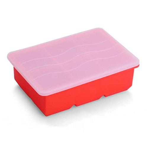 germer-lavable-souple-en-silicone-ice-cube-tray-avec-bouchon-en-plastique-rougeb-m