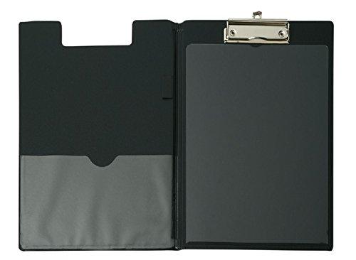 A4 Schreibmappe mit Folien- überzug und Durchschreibschutz, Farbe: schwarz