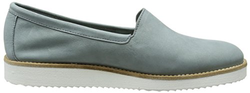 Fred De La Bretonnière Fred Step In Shoe White Sole Vigo, Mocassins femme Bleu - Blau (Petrol)
