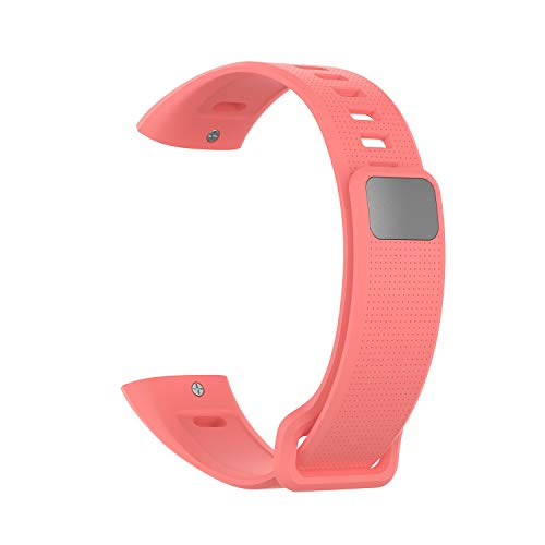Happy Event Strap Kompatibel für mit Huawei Band 2 / Band 2 pro Smart Watch, Silikon-verstellbares Ersatz-Accessoire-Armband Fitness-Armband