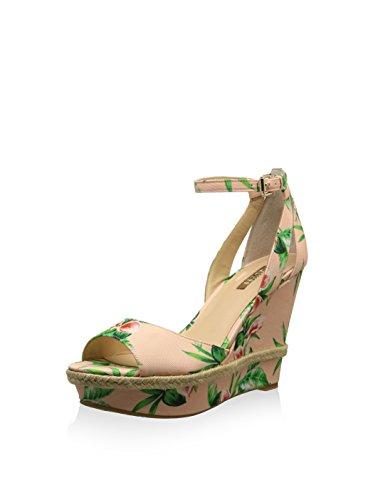 Guess Rose Plateau Vert Plateforme Sandales Femme SzVUMp