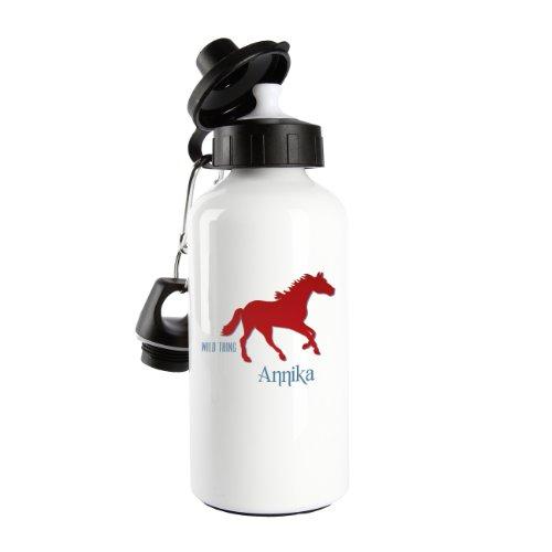 Striefchen® Trinkflasche Motiv - Wild Thing - mit Pferd und Name: Annika