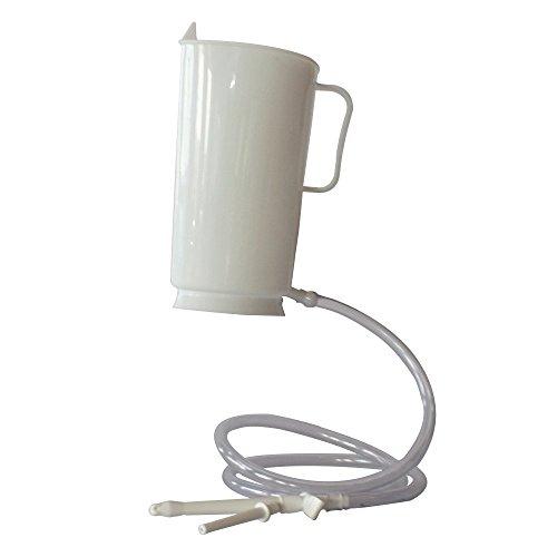 Irrigator Set 2 Liter weiß aus Kunststoff Irrigatorset für Analdusche Darmreinigung Scheidendusche Intimdusche Einlauf Darmspülung