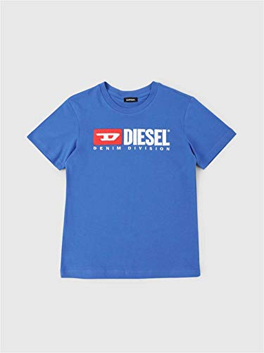 Diesel T-JUSTDIVISION 00J47V 00YI9 T-Shirt Unisex Boys Bluette 16Y -