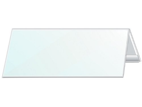 Durable 805319 Tischnamensschild, 105/210x297 mm, transparent, Schild weiß m. Rahmen, 25 - Tische Seminar