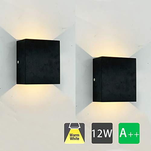 2 Pcs Moderno Lampara de Pared LED