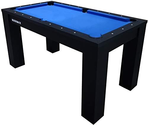 BuckShot Billardtisch 5ft - 152x81x79cm Oxford - Tischbillard mit Zubehör - 5 Fuß Pool Billard - 60KG - Schwarz/Blau