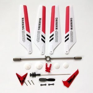 Syma Educative Products - Uncensored Set Replacement Parts for Syma S107 RC Helicopter, Rare Blades, Broaden Come to d overstuff upon,Caudal fin of a fish Decorations, Of deer Props, On on Bar, Supplies Set,Cohere Chunk-Red Set- - Replacement Parts