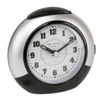 Wm.Widdop Large Round alarme balayage / Lumière / SNZ Clk Argent / Noir