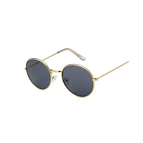 Sport-Sonnenbrillen, Vintage Sonnenbrillen, Retro Round Sunglasses Women Brand Designer Sun Glasses For Women Alloy Vintage Spiegel Sun Glasses Female Ladies Oculus De Sol Gold Gray