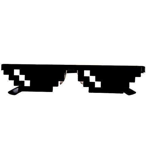 Amcool Unisex Thug Life Brille 8 Bit Pixel Deal mit IT Sonnenbrille Spielzeug (A)