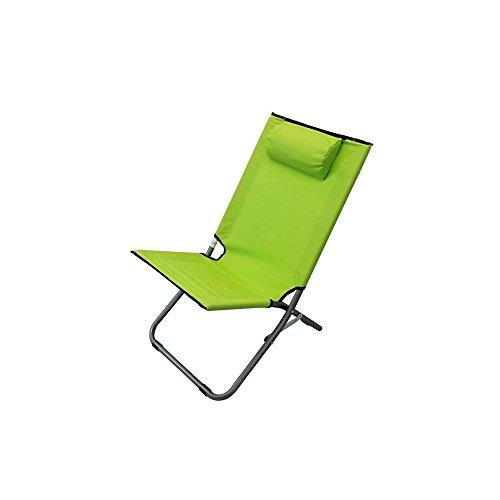 Spiaggina mare sdraio alta acciaio oxford verde lime per campeggio spiaggia piscina giardino