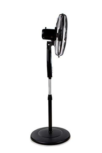 Orbegozo SF 0149 Ventilador de pie con 5 aspas 3 velocidades 60 W de potencia 40 cm de diámetro y diseño en color gris y negro