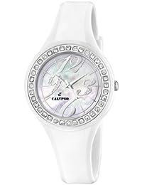 Calypso K5567/1 - Reloj analógico de mujer de cuarzo con correa de plástico blanca - sumergible a 100 metros