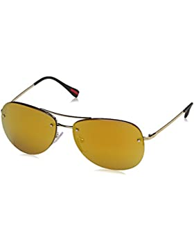 Prada 50RSSUN_ZVN5N0 (59 mm), Gafas de Sol Unisex-Adulto, Dorado, 59